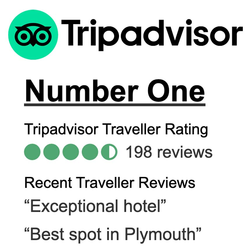 TripAdvisor Bed and breakfast Plymouth rated 4.5 stars